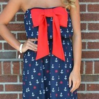 Bow Anchor Dress