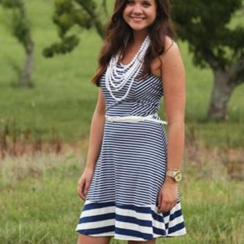 Blue Stripe Mini Dress