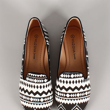 Starla-33 Tribal Round Toe Loafer Flat