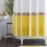 Horizon Stripe Shower Curtain - Citron