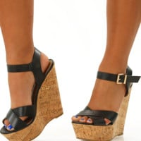 Walking On Sunshine Wedges: Black