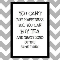 You Can't Buy Happiness - Quote Art Print by prettypetalspaper
