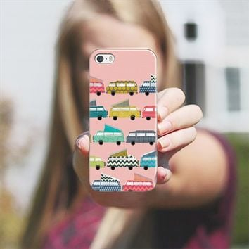 geo campers pink iPhone 5s case by Sharon Turner | Casetify