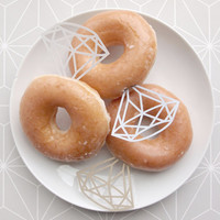 12 Paper Diamonds for Doughnut Diamond Rings