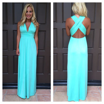 Dancing With The Stars Maxi Dress  MINT