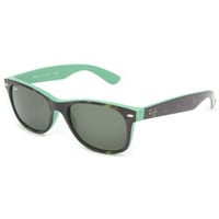 Ray-Ban New Wayfarer Sunglasses Top Havana On Green/Crystal Green One Size For Men 23434514901