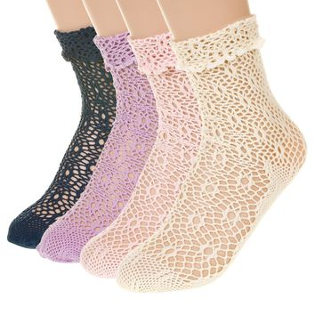 Feminine Net Lace Socks
