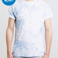 BLUE SMOKE WASH ROLLER T-SHIRT - Men's Tees & Tanks - Clothing - TOPMAN USA