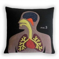 Heather Lins Home Science Project Pillow - Anatomy by Couture Deco