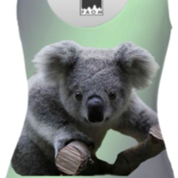 Koala Bear One Piece Swimsuit created by ErikaKaisersot | Print All Over Me