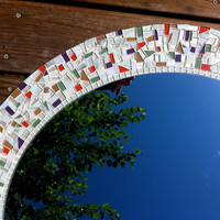 Wall Mirror Large Mosaic Mirrors Custom by GreenStreetMosaics