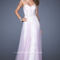 Beaded Sweetheart Gown by La Femme