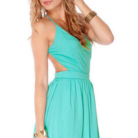 Swing, Swing, Swing Dress in Aqua :: tobi