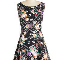 ModCloth Short Sleeveless A-line Dance Flourish Dress