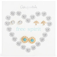 Free Spirit Stud Earring 3-Pack