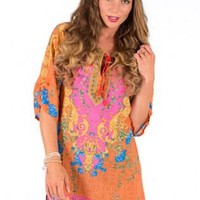 Multi-colored boho dress