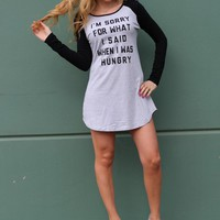 Text Print T-Shirt Dress