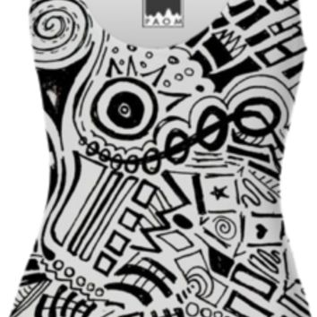 Black and White Abstract created by duckyb | Print All Over Me