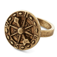 ModCloth Nautical Cartography Course Ring