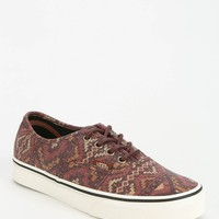 Vans Authentic Geo Rug Women's Low-Top Sneaker- Maroon 7.5