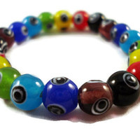 Rainbow Glass Bracelet by jewelrybyKAS