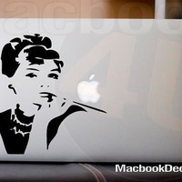 Audrey Hepburn MackBook Decal sticker