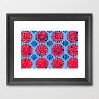 Vintage Flower Wallpaper Framed Art Print by Romi Vega | Society6
