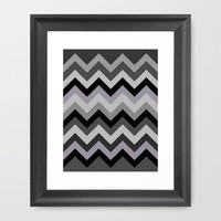 Chevron at Night Framed Art Print by Romi Vega | Society6