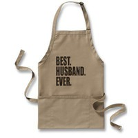 Best. Husband. Ever. Aprons from Zazzle.com