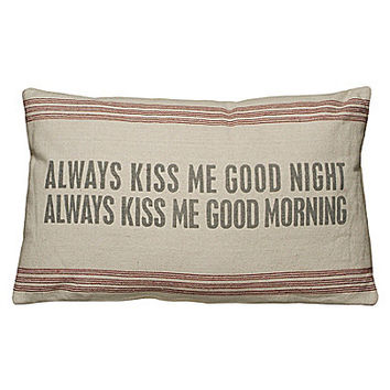Primitives by Kathy Always Kiss Me Decorative Pillow | Dillards.com