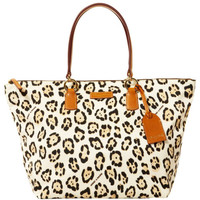 Dooney & Bourke  Large Tulip Shopper, Leopard/Na