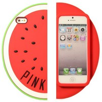 Yuersal Victoria's Secret PINK Watermelon For Iphone5 5S 5G Red