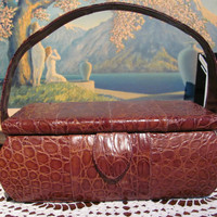 Vintage Alligator Handbag by RetroRoxyRhonda on Etsy