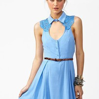 Aster Lace Dress - Periwinkle  in  Clothes Dresses at Nasty Gal