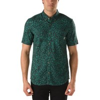 Vans Clawson Animal Buttondown Shirt (Spa/Black Animal)