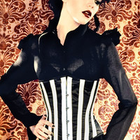 AUSTERE DEVOTION B&W WAIST CINCHER