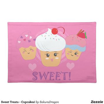 Sweet Treats - Cupcakes! Placemat from Zazzle.com