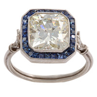 1STDIBS.COM Jewelry & Watches - Sapphire and Diamond Engagement Ring - Elle W Collection