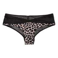 H&M - Mesh Hipster Briefs - Black/Beige - Ladies