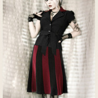 FRENCH HEART OF NAVRÃ? NOIR & ROUGE SHIRT & SKIRT SET