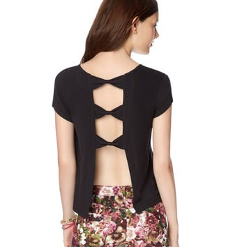 Open-Back Bow Tee