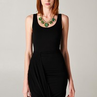 Black twisted maxi dress