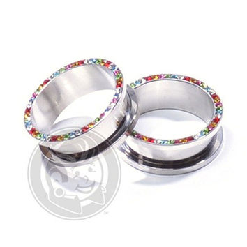 Threaded Rainbow Bling Tunnels