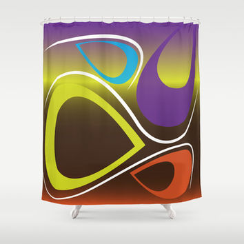 Abstract 113 Shower Curtain by Ramon Martinez Jr