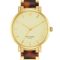 kate spade new york 'gramercy' resin link bracelet watch, 34mm