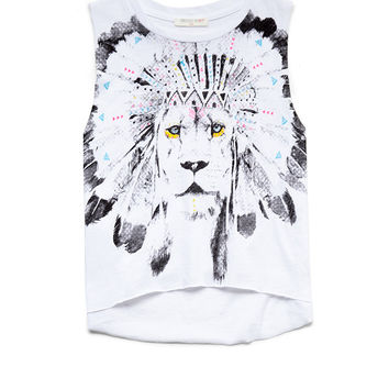 Lion Print Muscle Tee Kids
