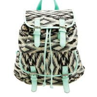 TRIBAL PRINT CANVAS BACKPACK