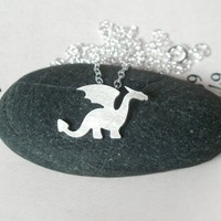 dragon necklace in sterling silver, handmade in the UK by Huiyi Tan