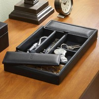 Personalized Royce Leather Dresser Valet Tray