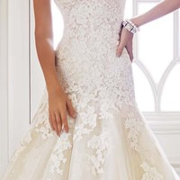 Strapless Tulle Gown by Sophia Tolli